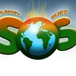 """Kunstaktion für Kinder und Jugendliche """"der Planet ruft SOS"""""""