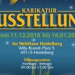 """Ausstellung Karikaturenwettbewerb """"Der Planet ruft SOS"""" bis 16.01.2019 in Heidelberg"""